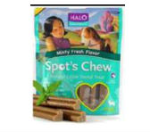 Natural Edible Dental Treat - for Dogs Minty Fresh Flavor
