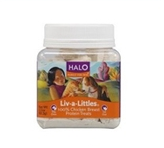 Halo, Purely For Pets Liv-A-<br /> Littles Protein Treats White <br /> Chicken Breast