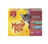 Meow Mix Savory Morsels <br /> Seafood Favorites Variety Pack