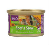 HALO PURELY FOR PETS SPOT S STEW  FOR CATS WHOLESOME LAMB RECIPE    3 OZ