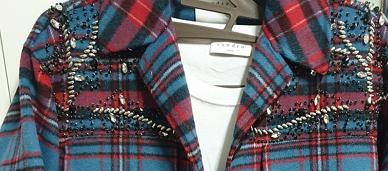 산드로 체크 자켓, 티셔츠